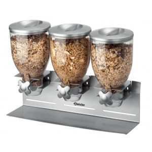 Distributeur de Céréales Triple - 10,5 Litres Bartscher - 1