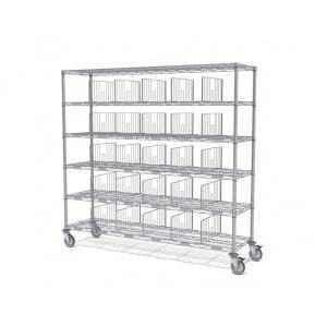 Sortierwagen mit Etikettrahmen - 8 Fächer