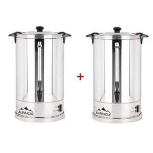 Pack de 2 Percolateurs Professionnels à Café 7 L avec filtre permanent pour 48 Tasses - AROMA Alpinox - 1