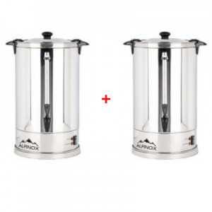 Pack de 2 Percolateurs Professionnels à Café 8 L avec filtre permanent pour 60 tasses - AROMA Alpinox - 1