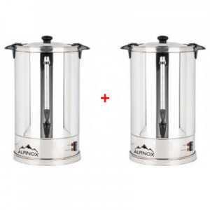 Pack de 2 Percolateurs à Café 14 L avec filtre permanent pour 110 tasses - AROMA Alpinox - 1