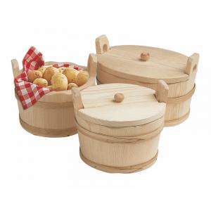 Holzkorb für Kartoffeln, rund ohne Deckel - Ø 200 mm