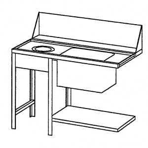 Table de Chargement Vasque + Vide Déchets Krupps - 1