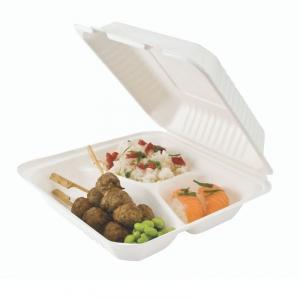 Lunch Box Bagasse 3 Fächer - 50 Stück
