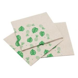 Serviette aus Recyclingpapier - 30 x 30 cm 2-lagig - 50 Stück