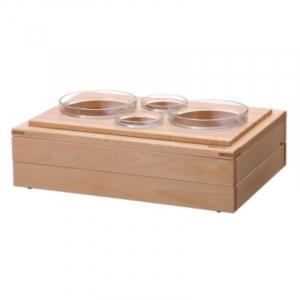 Buffet-System Set - 4 Glasschalen