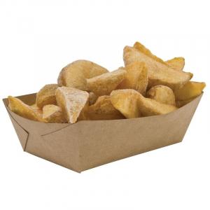 Pommesschale aus Karton - L 100 x T 60 mm - Umweltfreundlich - 250 Stück