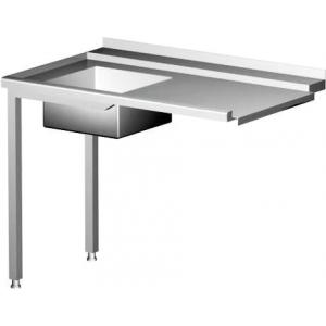 Zulauftisch für Geschirrspüler mit Waschbecken links